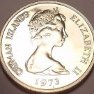 PROOF CAYMAN ISLANDS 1973 5 CENTS~PROOFS R BEST~FREE SH