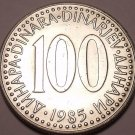 HUGE UNC YUGOSLAVIA 1985 100 DINARA~GREAT PRICE~FR/SHIP