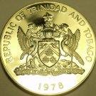 Massive Rare Proof Trinidad & Tobago 1978 Dollar~Only 4,845 Minted~Free Shipping