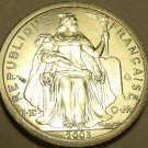 Choice Unc French Polynesia 2003 1 Franc~Minted In Paris France~Free Shipping