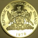 MASSIVE PROOF TRINIDAD & TOBAGO 1976 DOLLAR~COERICO~ONLY 10K MINTED~FREE SHIP~