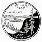 2005-D OREGON  BRILLIANT UNCIRCULATED STATE QUARTER