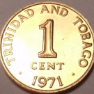 PROOF TRINIDAD & TOBAGO 1971 CENT~ONLY 12K MINTED~FREE SHIPPING~
