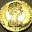 Cameo Proof New Zealand 1980-I 50 Cents~H.M.S. Endeavour~17K Minted~Free Ship