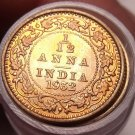 Extremely Rare Gem Unc Roll (50 Coins) India 1932-C 1/12th Anna~King George~Fr/S