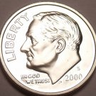 90% SILVER CAMEO PROOF 2000-S ROOSEVELT DIME~FREE SHIP