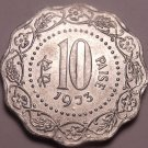 Large Brilliant Unc India 1973 10 Paise~We Have India Coins~Free Shipping