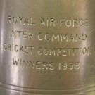 RARE ROYAL AIR FORCE 1958 CRICKET COMPETITION WINNER ENGLISH PEWTER MUG~FREE SHI