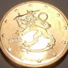 Gem Unc Finland 2006 2 Euro Cents~Rampant Lion With Stars~Free Shipping