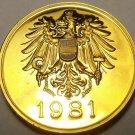 AUSTRIA 1981 PROOF SET MEDALLION~EXCELLENT~FREE SHIP~