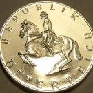 Cameo Proof Austria 1976 Five Schilling~44K Minted~Lippizaner Stallion~Free Ship