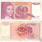 YUGOSLAVIA 10 DINARA CIRCULATED BARGAIN NOTE!!!!!