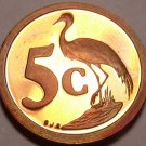 Rare Proof South Africa 1993 5 Cents~Blue Crane~Only 7,790 Minted~Free Shipping