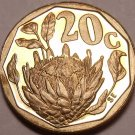 Rare Proof South Africa 1993 20 Cents~Protea flower~Only 7,790 Minted~Free Ship