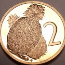 Proof Cook Islands 1976 2 Cents~Only 18,000 Minted~Pineapple~Free Shipping