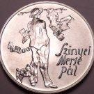 Rare Gem Bu Silver Hungary 1976-BP 200 Forint~Pal Szinyei Merse, Painter~Free Sh