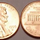1995-D BRILLIANT UNCIRCULATED LINCOLN CENT VERY NICE