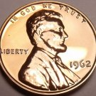 United States Proof 1962 Cent~We Have Hundreds Of Proof Coins~Free Shipping
