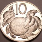 Large Proof Cook Islands 1976 10 Cents~18,000 Minted~Orange Tree~Free Shipping