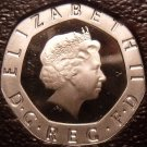 Rare Gem Cameo Great Britain 2008 20 Pence~The Badge Of England~50,000 Minted~FS
