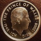 Rare Cameo Great Britain 2008 5 Pounds~Charles Prince Of Wales 60th~Free Ship