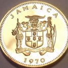 Rare Proof Jamaica 1970 Cent~Ackee Fruit~Only 12,000 Minted~Free Shipping