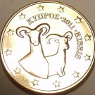 Gem Unc Cyprus 2011 2 Euro Cents~Double Rams~We Have Cyprus Coins~Free Shipping