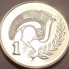 Gem Unc Cyprus 2004 1 Cent~Bird On a Branch~Fantastic Details~Free Shipping