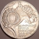 Huge Unc Silver Germany 1972-G 10 Mark Coin~Munich Olympic Games~Free Shipping