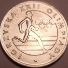 Huge Unc Poland 1980 20 Zlotych~The 1980 Olympic Games~Free Shipping~