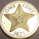 PROOF BAHAMAS 1971 CENT~STARFISH~31K MINTED~FREE SHIP~