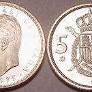 PROOF SPAIN 1975(77) 5 PESETAS~GREAT PRICE~~FREE SHIP~~