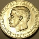 Rare Unc Greece 1971 2 Drachmai~Soldier In Front Of Phoenix~Free Shipping*