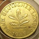 Rare Roll Germany 1949(25) & 1950(25) 5 Pfennig Coins~Special~Valuable~Free Ship