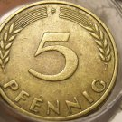 Rare Roll (50) Old Germany 1950 5 Pfennigs~Special Price~Valuable~Free Shipping~