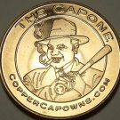 UNC .999 PURE COPPER 1 OUNCE ROUND~AL CAPPONE WITH CIGAR AND BAT~FREE SHIPPING~