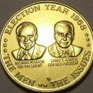 Massive Unc Rare 1968 Richard Nixon-Spiro T. Agnew Campaign Medallion~Free Ship