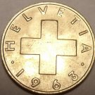 UNCIRCULATED SWITZERLAND 1963B 2 RAPPEN~SEE R COINS~F/S