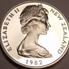 Cameo Proof New Zealand 1982 5 Cents~Only 18,000 Minted~Free Shipping