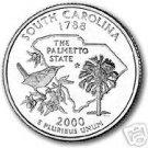 2000-P SOUTH CAROLINA BRILLIANT UNC STATE QUARTER
