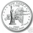 2001-P NEW YORK BRILLIANT UNCIRCULATED STATE QUARTER