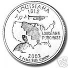 2002-P LOUISANA BRILLIANT UNCIRCULATED STATE QUARTER