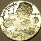RARE MASSIVE SILVER PROOF TUNISIA 1969-F.M.N.I. DINAR~HEAD OF JUGURTHA~FREE SHIP