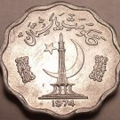 Gem Unc Pakistan 1974 10 Paisa F.A.O. Issue~1st Year Ever Minted~Free Shipping