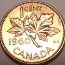 Unc Canada 1960 Maple Leaf Cent~Queen Elizabeth II~Free Shipping