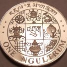 Rare Proof Bhutan 1979 Ngultrum~Incredible Symbols~6,000 Minted~Free Shipping