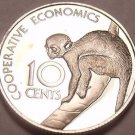 Rare Cameo Proof Guyana 1976 10 Cents~Mintage 3,547~Sakiwinki~Free Shipping