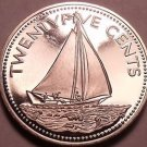 Proof Bahamas 1974 25 Cents~Bahamian Sloop~1st Year Ever This Type~Free Shipping
