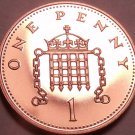 Super Cameo Proof Great Britain 2001 Penny~Badge Of Henry II~Awesome~Free Ship