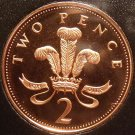 Cameo Proof Great Britain 1996 2 Pence~Welsh Plume~The Mints Best Work~Free Ship
